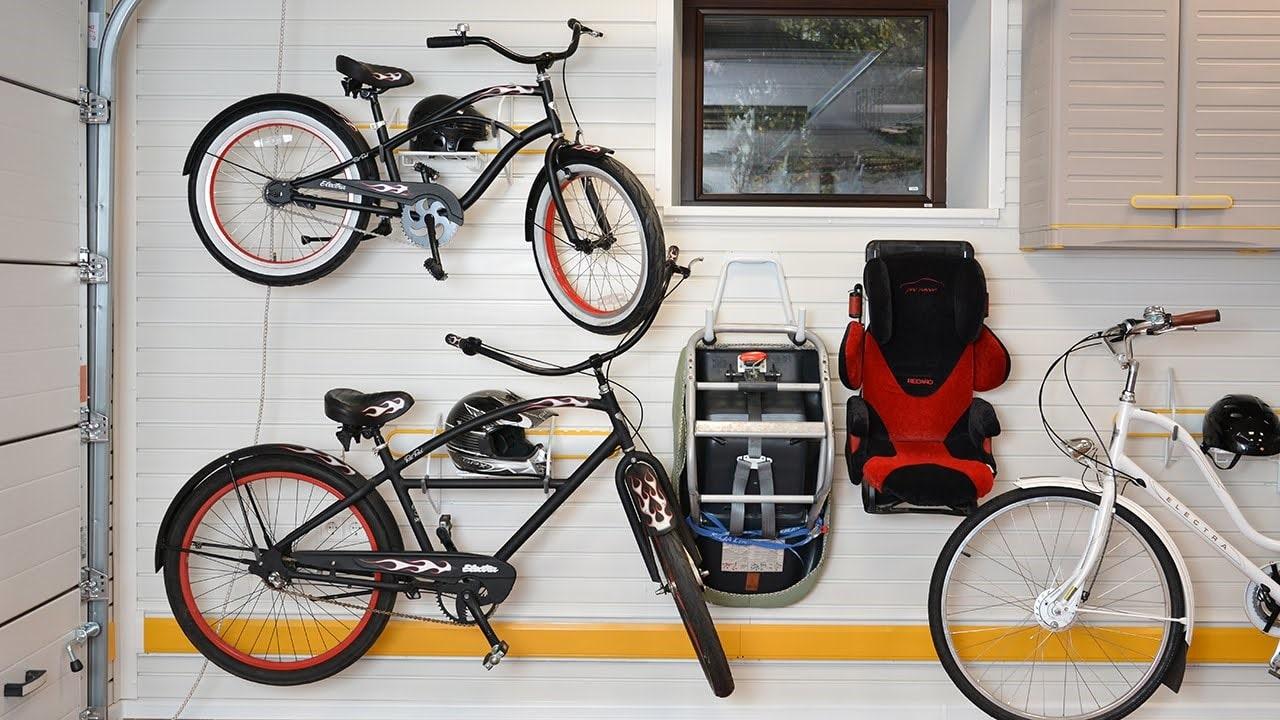 крепление велосипеда в гараже