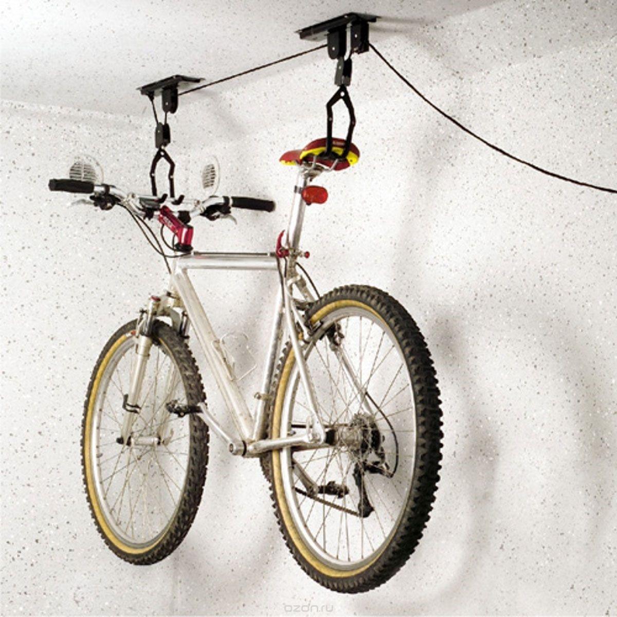 крепление велосипеда на потолке