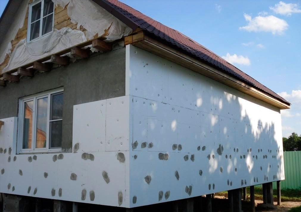 утепление дома пеноплексом