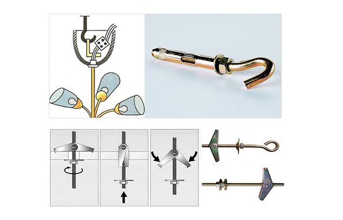Схема способа монтажа с помощью крюка