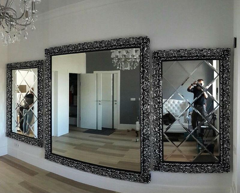 Галерея зеркал в эффектных рамах
