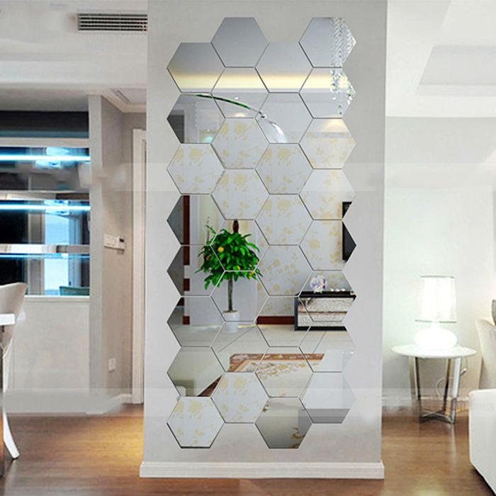 Мозаика из зеркальных плиток