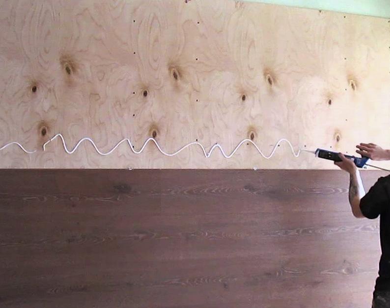Технология отделки стен ламинатом