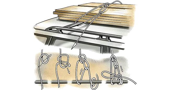 Способ фиксации груза веревкой