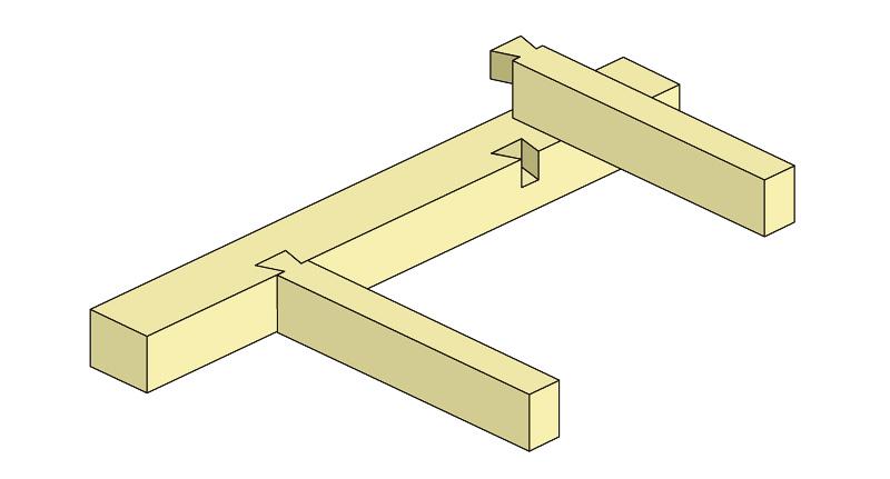 Схема крепления балок к деревянной стене