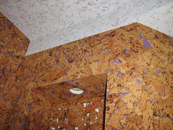 Пробка стала применяться для отделки стен