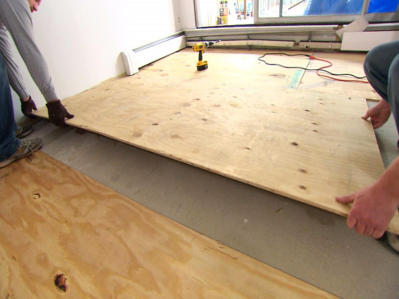 Особенности крепления фанеры на бетонный и деревянный пол