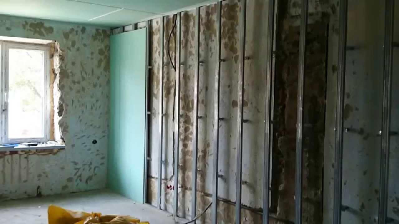 Обшивка стен ггипсокартоном