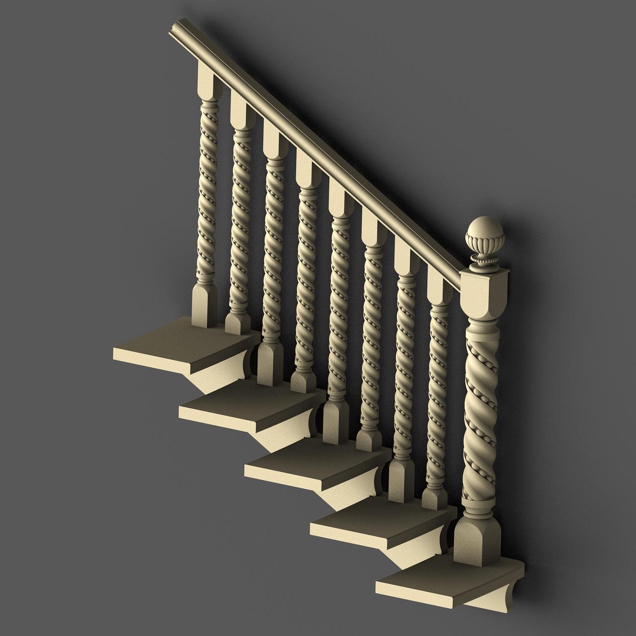 Так выглядят балясины, установленные на ступени