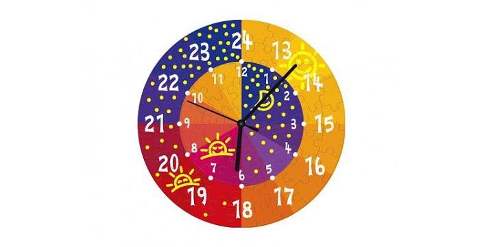 Вариант дизайна детских обучающих часов