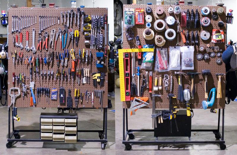 Мобильный стенд для инструментов
