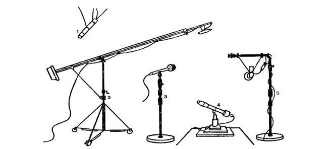 Варианты микрофонных держателей