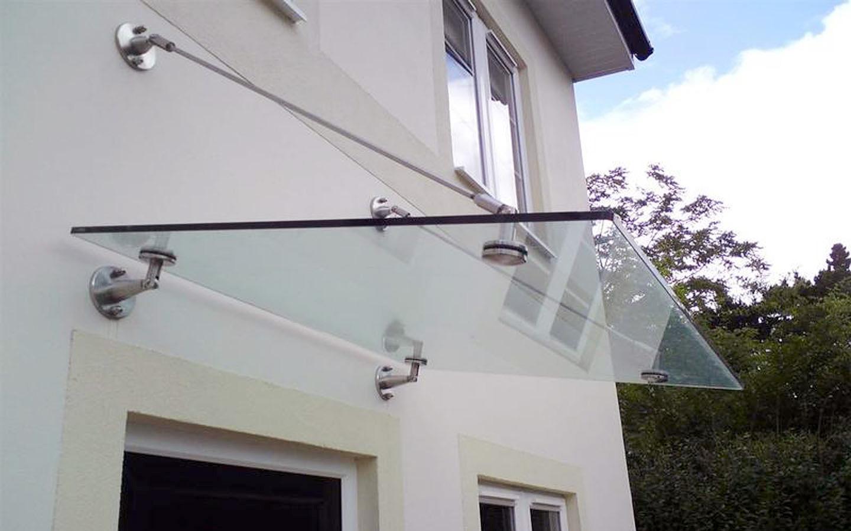 Крепеж для стеклянного навеса
