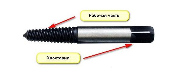 Экструдер для выкручивания болтов