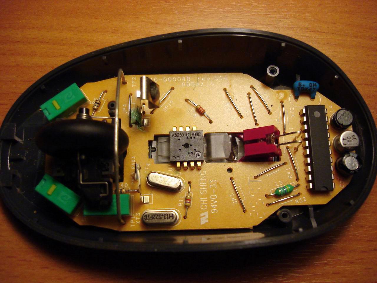 Разборка беспроводной мышки